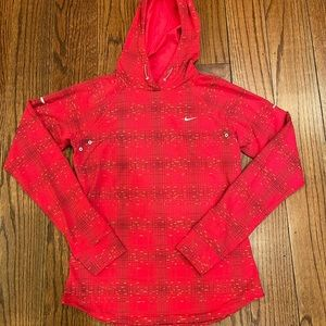 Nike Dri-Fit Red Hooded Shirt, size small